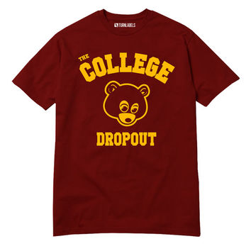 College Dropout T-Shirt Kanye West Bound Yeezy Yeezus GOOD Music Bape Hip Hop Swish So Help Me God