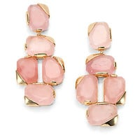 Stepping Stones Rose Quartz Drop Earrings