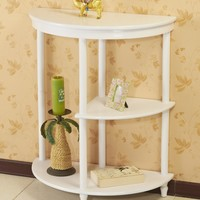 Frenchi Home Furnishing Half Moon Console Table, White