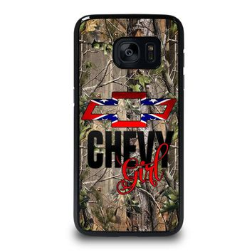 CAMO BROWNING REBEL CHEVY GIRL Samsung Galaxy S7 Edge Case Cover