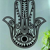 Hamsa Hand Version 5 Decal Sticker Wall Vinyl Art Blessings Power Strength
