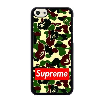 CAMO BAPE SUPREME iPhone 5C Case Cover