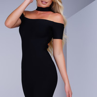 Marnie Bandage Dress - Black