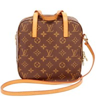 Louis Vuitton Monogram/Brown Canvas Spontini Cross Body Bag 5494 (Authentic Pre-owned)