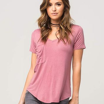 OTHERS FOLLOW Slouch Pocket Womens V-Neck Tee | Knit Tops & Tees