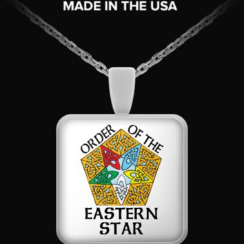 Order Of The Eastern Star Celtic Knot - Necklace escelticknot