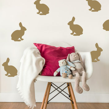 Bunny Wall Decal, Bunny Wall Art, Nursery Wall Decal, Nursery Wall Decor, Childrens Wall Art, Easter Decorations, Animal Wall Decal