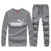 Puma Fashion Casual Top Sweater Pants Trousers Set Two-Piece