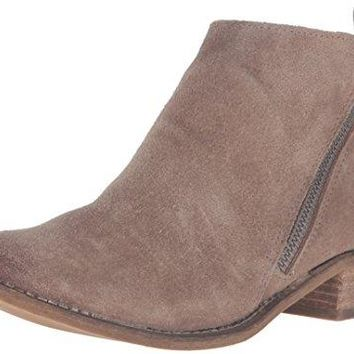 Dolce Vita Women's Sibil Ankle Bootie, Dark Taupe Suede, 6 M US