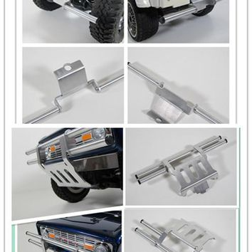 Custom Rear and Front  Aluminum Bumper Guard for Tamiya RC 1/10 CC01 Chassis Jeep Wrangler  FJ Cruiser Bronco Pajero