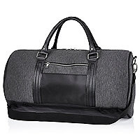 Grey jersey holdall bag - holdalls - bags - men