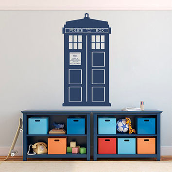 kik2243 Wall Decal Sticker Time Machine Spaceship tardis doctor who living children's bedroom