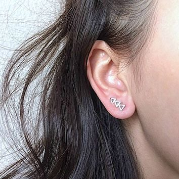 Triangle Climber Earrings