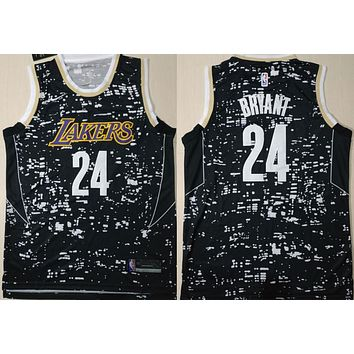 La Lakers #24 Kobe Bryant Luminous Swingman Jersey | Best Deal Online