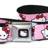 Hello Kitty Faces Pink Seatbelt Belt