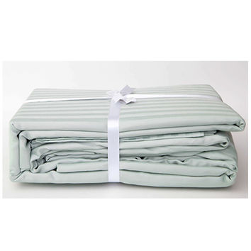 Stripe Sateen Sheet Set - Sea Foam