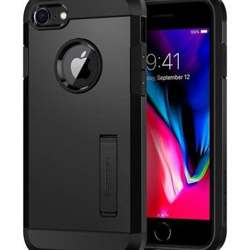 VOND4H Spigen Tough Armor [2nd Generation] iPhone 8 Case / iPhone 7 Case with Kickstand and Heavy Duty Protection and Air Cushion Technology for Apple iPhone 8 (2017) / iPhone 7 (2016) - Black