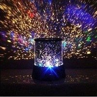 InnooTech LED Night Light Projector Lamp, Colorful Star Light, Bedside Lights, (With USB Cable)