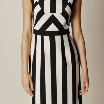 MULTI-STRIPE DRESS - BLACK & WHITE