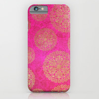 ROYAL FLOWERS ( PURPLE ) - for iphone iPhone & iPod Case by Simone Morana Cyla
