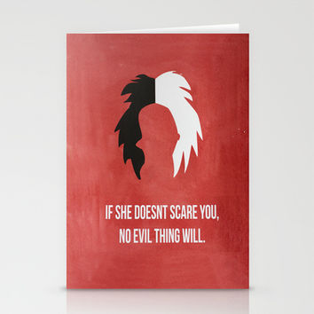 Disney Villain - Cruella De Vil Stationery Cards by Tessa Simpson | Society6