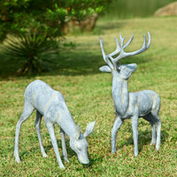 SPI Aluminum Garden Deer Pair Sculpture for Garden