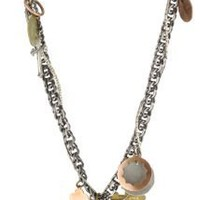 Bing Bang Talisman Charm Mixed Metal Necklace