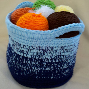 CUSTOM Crochet Basket - Handmade by The Hippie Patch