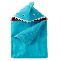 Carter's Baby Boys' Shark Hooded Towel Toddler- Blue- One Size