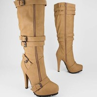strappy double zip boot $57.20 in BLACK HNYMST TAUPE - Boots | GoJane.com