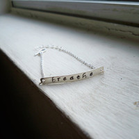 Sterling Silver Stamped Bracelet - Personalize it to order