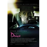 Drive Movie poster Metal Sign Wall Art 8in x 12in