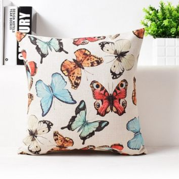 Ink Butterfly Pillow