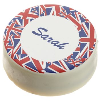 Royal Union Flag Custom Chocolate Dipped Oreo