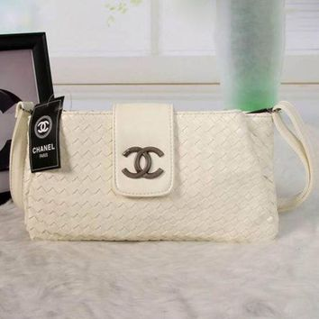 DCCKJG8 CHANEL Women Shopping Leather Crossbody Shoulder Bag