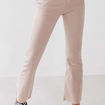 BDG Kick Flare High-Rise Cropped Corduroy Pant   Urban Outfitters