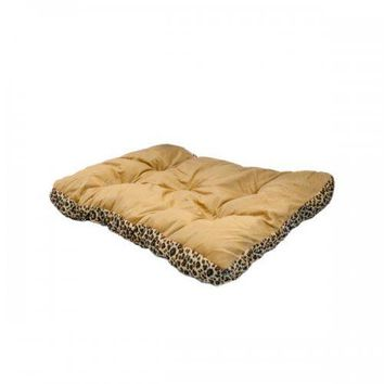 28in Rectangular Leopard Print Pet Bed (pack of 1)