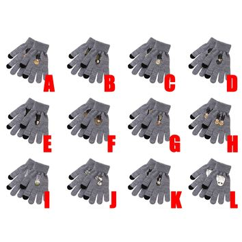 Cool Cartoon Harri Potter Hermione Granger Ron Weasley Severus Snape Draco Malfoy Hedwig Dumbledore Knitted Gloves Cosplay CostumeAT_93_12