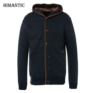 Men Fleece Elbow Patch Hooded Single Breasted Hoodies Male Casual Sweatshirt Jacket Spring Autumn Winter Fashion Large size 3XL