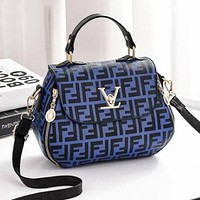 FENDI Fashionable Women Handbag Tote Shoulder Bag Mini Crossbody Satchel Blue