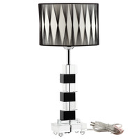 Percussion Table Lamp in Black And White