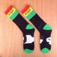 Enjoi Rasta Panda Tube Socks