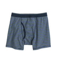 J.Crew Mens Heather Graphite Stripe Knit Boxer Briefs