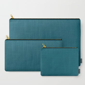 Teal The World (Blue) Carry-All Pouch by Moonshine Paradise