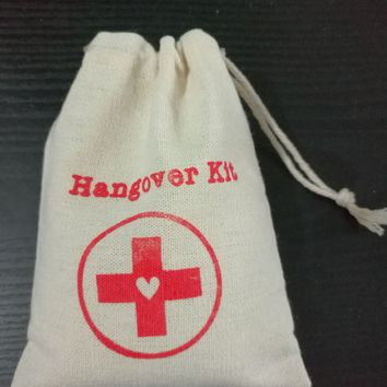 "Hangover Kit Linen Gift Bag 12x15cm(4.75""x6"") 15x21cm(6""x8"") pack of 50 Wedding Favor Holder Jewelry Packaging Pouches"