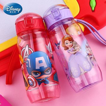 Children Straw Plastic Water Bottle BPA Free
