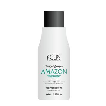 THE FIRST HAIR STRAIGHTENER SHAMPOO FELPS AMAZON  100ml  3.8fl.Oz.