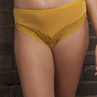Comfy Brief with Lace - Mimosa