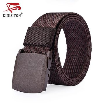 Fashion Military Belt Men's Canvas Belt With Automatic Buckle Nylon Strap Tactical Thicken Waist Belts For Men