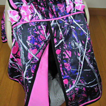 Pink Camo Car Seat Canopy/Baby Carseat Cover/ Infant Carseat Canopy Cover : car canopy baby - memphite.com